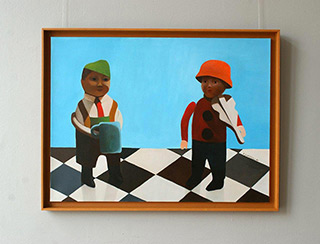 Katarzyna Castellini : The museum in Sirolo : Oil on Canvas