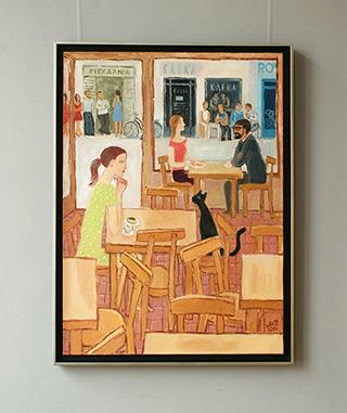 Krzysztof Kokoryn : Cafe Kafka : Oil on Canvas
