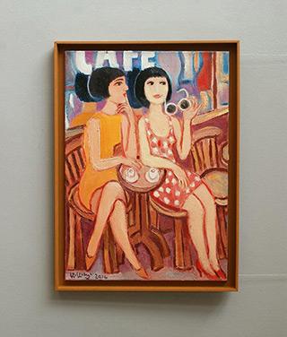Krzysztof Kokoryn : Two coffe : Oil on Canvas
