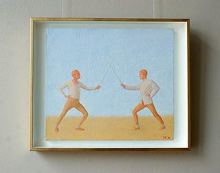 Mikołaj Kasprzyk : Duel : Oil on Canvas