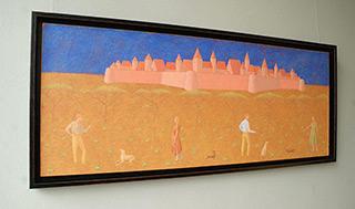 Mikołaj Kasprzyk : Walk under the castle : Oil on Canvas
