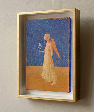 Mikołaj Kasprzyk : Angel with lily : Oil on Canvas