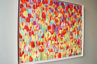 Beata Murawska : Light tulips field : Oil on Canvas
