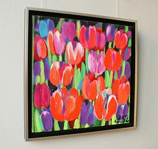 Beata Murawska : Pastel bouquet : Oil on Canvas