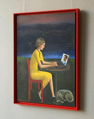Katarzyna Karpowicz : Night correspondence : Oil on Canvas