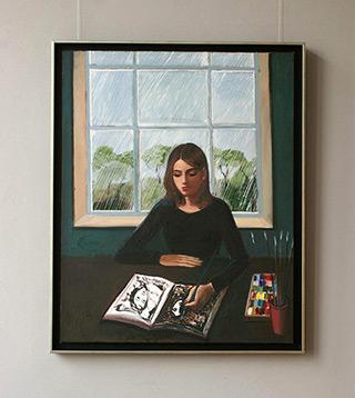 Katarzyna Karpowicz : Rainy day : Oil on Canvas
