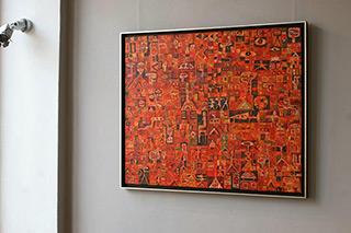 Krzysztof Pająk : Make a fire : Oil on Canvas