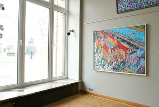 Edward Dwurnik : Royale Castle : Oil on Canvas