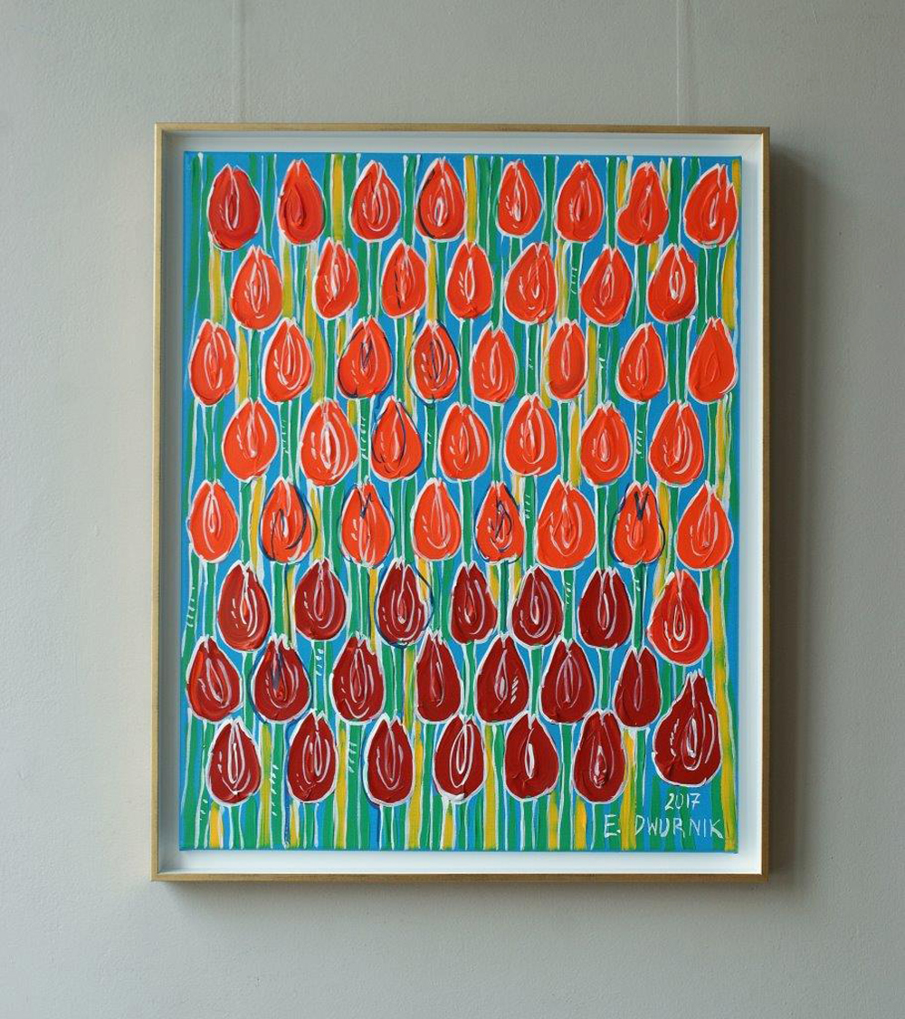 Edward Dwurnik : Field of the lucky tulips No 2