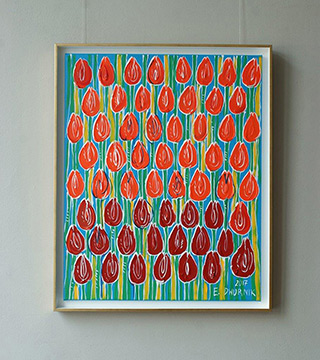 Edward Dwurnik - Field of the lucky tulips No 2