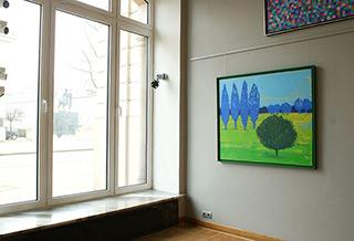 Jacek Łydżba : Ultramarine garden : Oil on Canvas