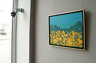Edward Dwurnik : Marsh marigolds : Oil on Canvas