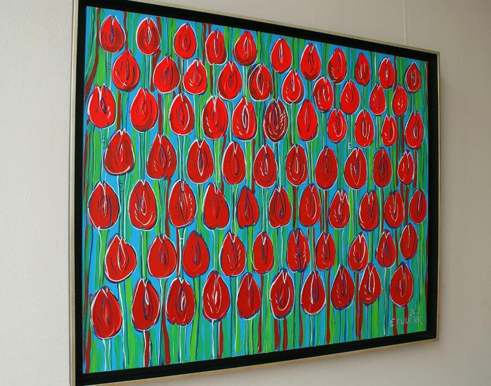 Edward Dwurnik : Red tulips