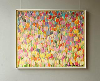 Beata Murawska : Anemic tulips : Oil on Canvas