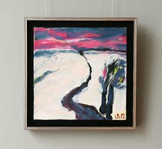 Beata Murawska : Red sky : Oil on Canvas