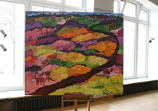 Beata Murawska : Road Among Hills : Oil on Canvas