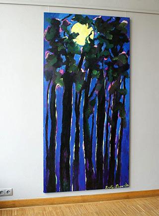 Beata Murawska : Full Moon : Oil on Canvas