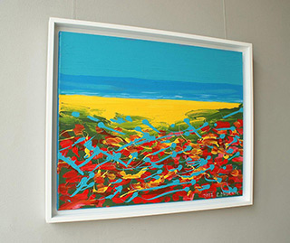 Edward Dwurnik : Poppies in Łeba : Oil on Canvas