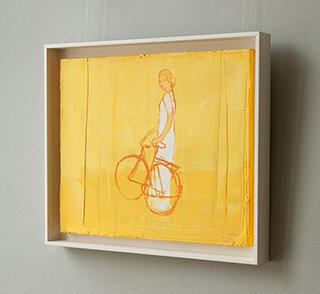 Jacek Łydżba : Cyclist : Oil on Canvas