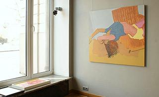 Agnieszka Sandomierz : Girl on the sofa : Tempera on canvas
