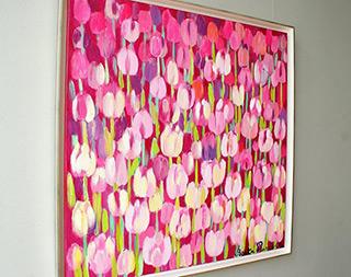 Beata Murawska : Pink kiss : Oil on Canvas