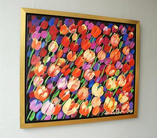 Beata Murawska : Tulips field : Oil on Canvas