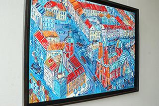 Edward Dwurnik : Płock : Oil on Canvas