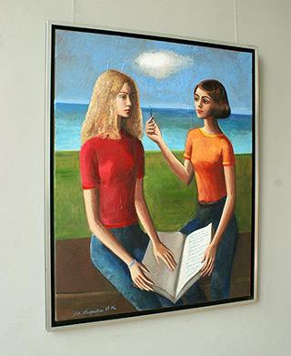 Katarzyna Karpowicz : French lesson : Oil on Canvas