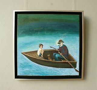 Katarzyna Karpowicz : In the boat : Oil on Canvas