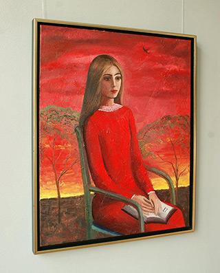 Katarzyna Karpowicz : Reading on the terrace : Oil on Canvas