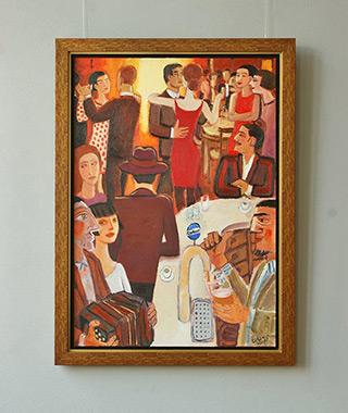 Krzysztof Kokoryn : In the pub : Oil on Canvas