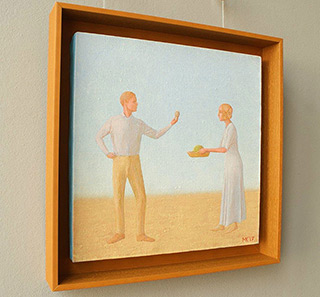 Mikołaj Kasprzyk : Easter (Light blue) : Oil on Canvas