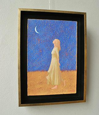 Mikołaj Kasprzyk : Girl with the moon : Oil on Canvas