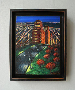 Adam Patrzyk : Town behind the hill : Oil on Canvas
