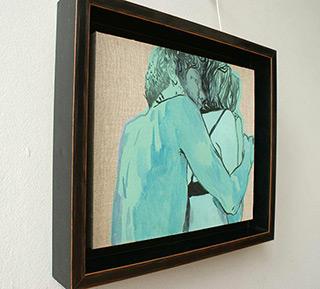 Agnieszka Sandomierz : Green couple : Tempera on canvas