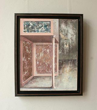 Łukasz Huculak : The pink column : Tempera on canvas