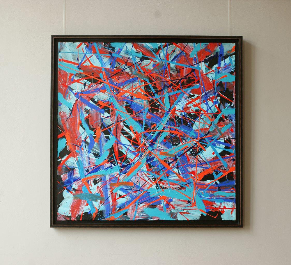 Edward Dwurnik : Abstract painting No 372