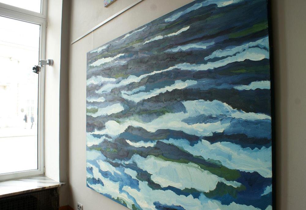 Edward Dwurnik : Blue No 109