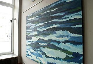 Edward Dwurnik : Blue No 109 : Oil on Canvas