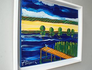 Edward Dwurnik : Platform : Oil on Canvas