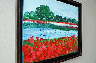 Edward Dwurnik : Poppies : Oil on Canvas