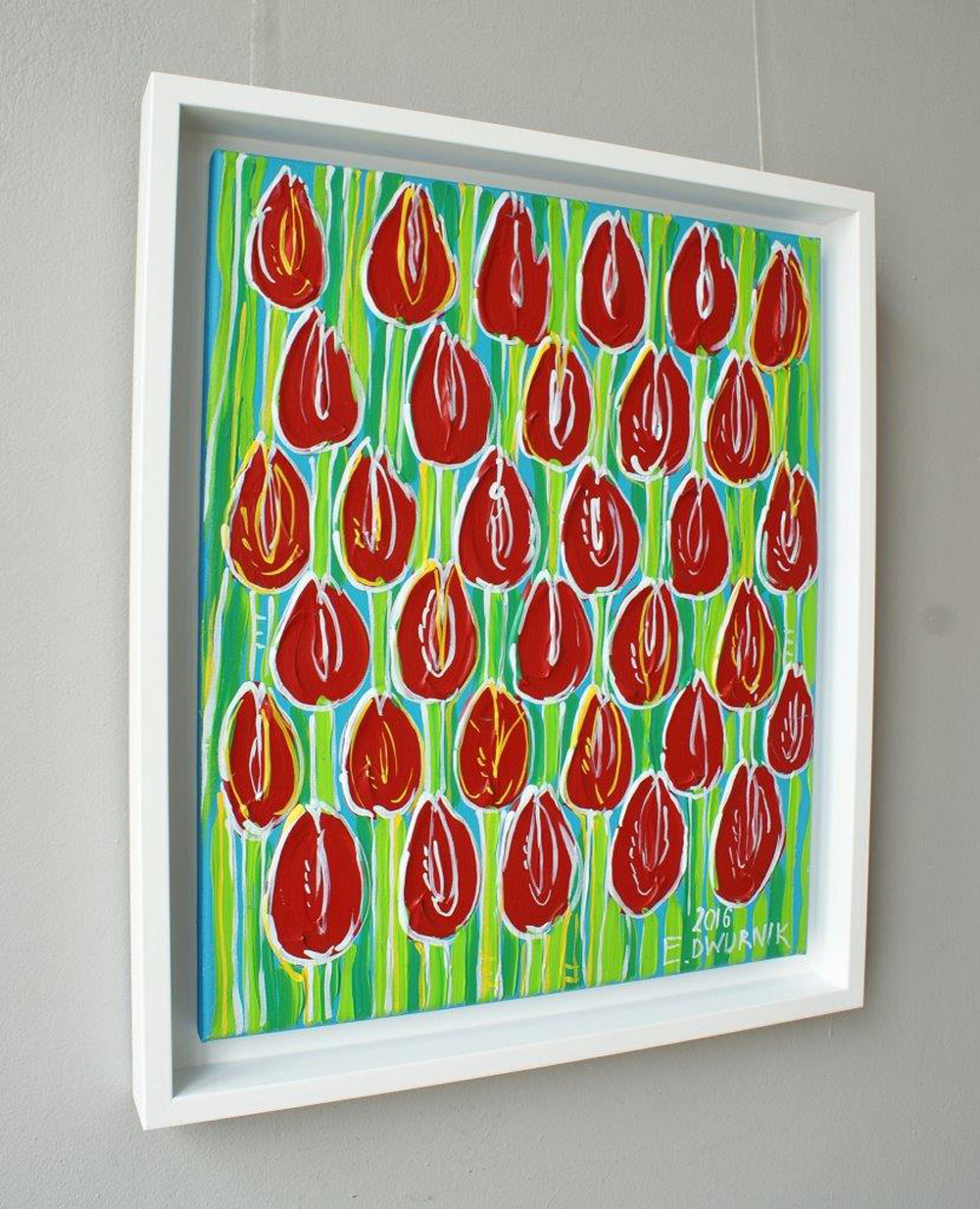 Edward Dwurnik : Red tulips