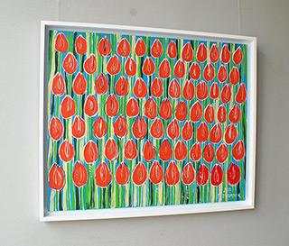 Edward Dwurnik : Tulips : Oil on Canvas