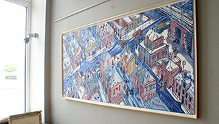 Edward Dwurnik : Wawer : Oil on Canvas