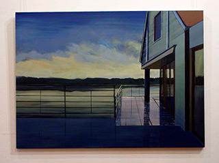 Maria Kiesner : Lake : Tempera on Canvas