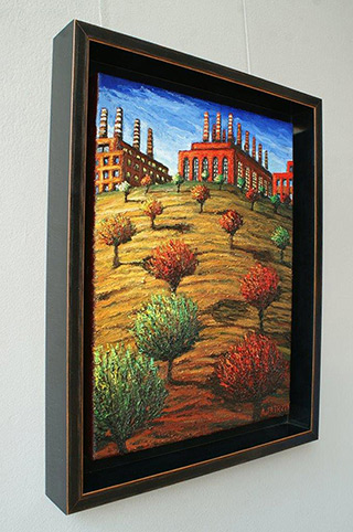 Adam Patrzyk : Factory on the hill : Oil on Canvas