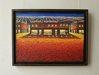 Adam Patrzyk : Metropolis at night : Oil on Canvas
