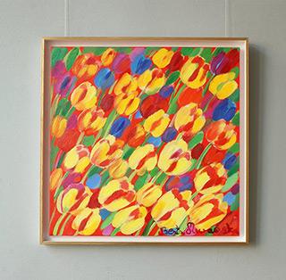Beata Murawska : Juicy tulips : Oil on Canvas