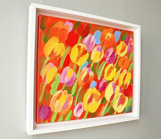 Beata Murawska : Tulips in brightness : Oil on Canvas