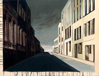 Maria Kiesner : Street : Tempera on Canvas